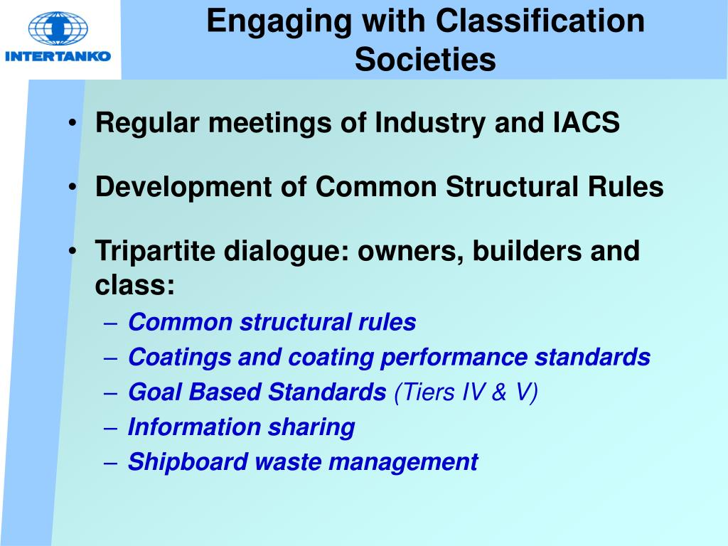 Engaging with Classification Societies