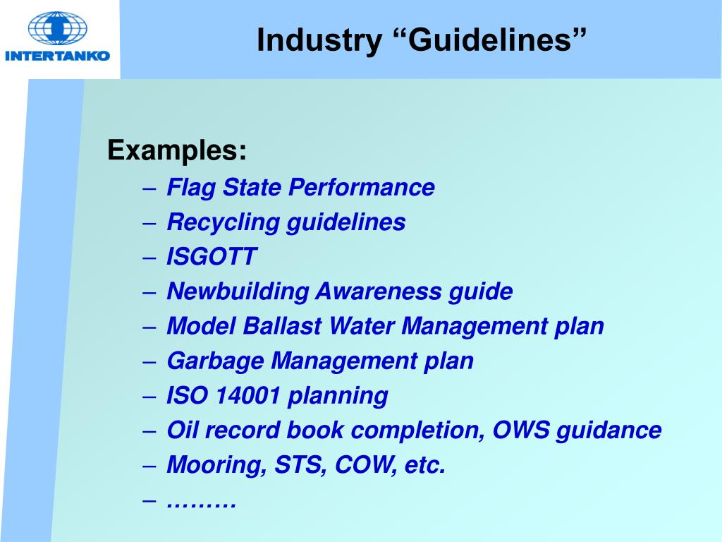 """Industry """"Guidelines"""""""
