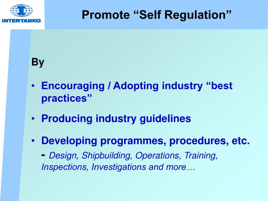 "Promote ""Self Regulation"""