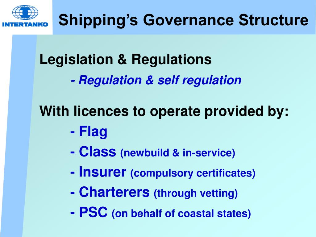 Shipping's Governance Structure