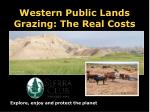western public lands grazing the real costs