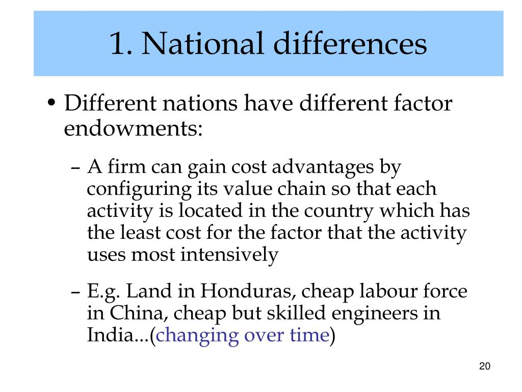1. National differences