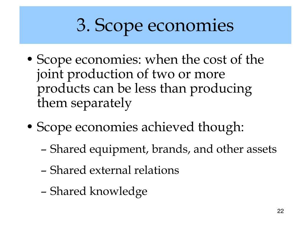 3. Scope economies