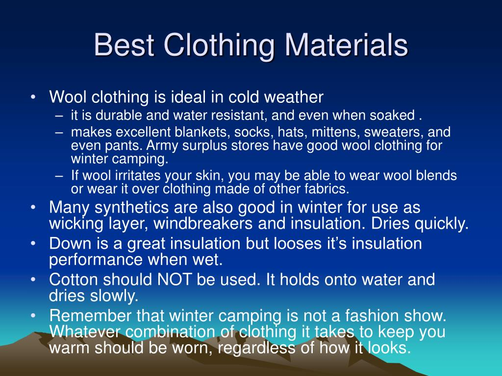 Best Clothing Materials
