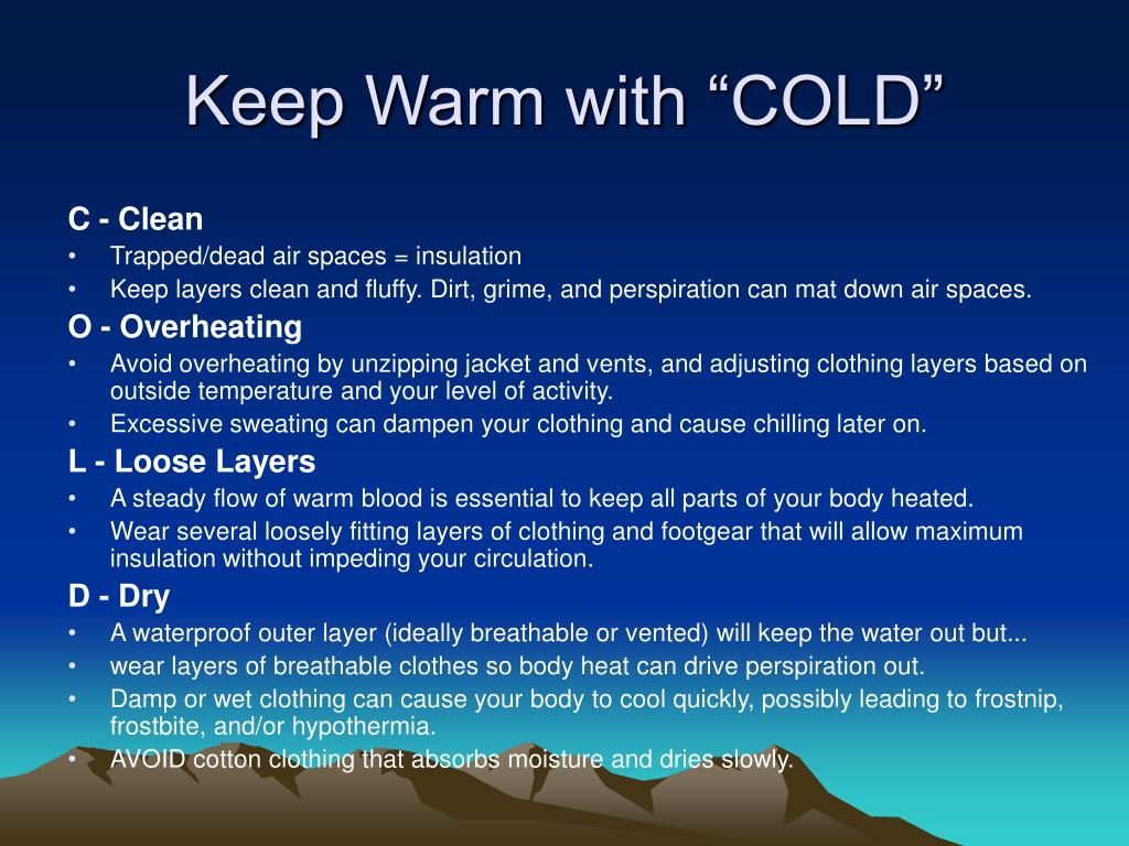 "Keep Warm with ""COLD"""
