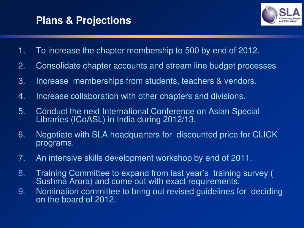 Plans & Projections
