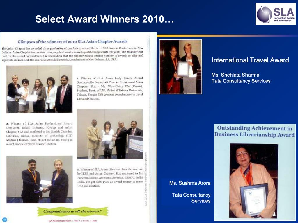 Select Award Winners 2010…