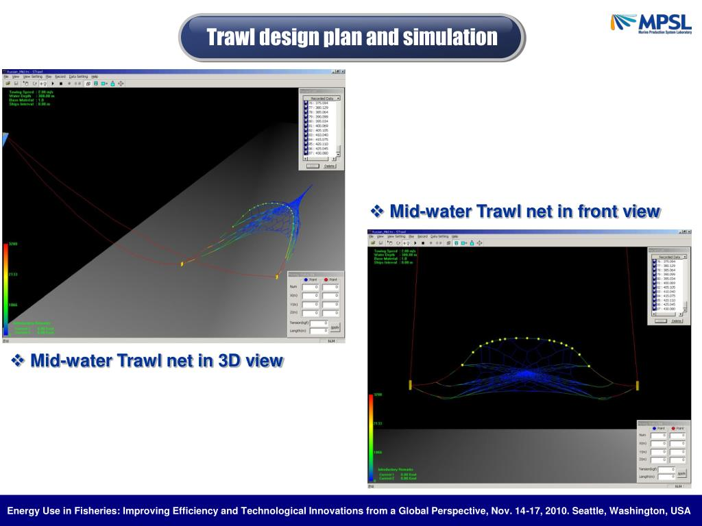 Trawl design plan and simulation