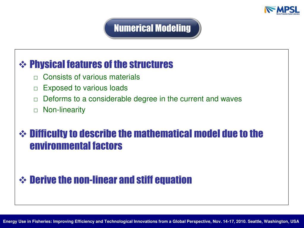 Numerical Modeling