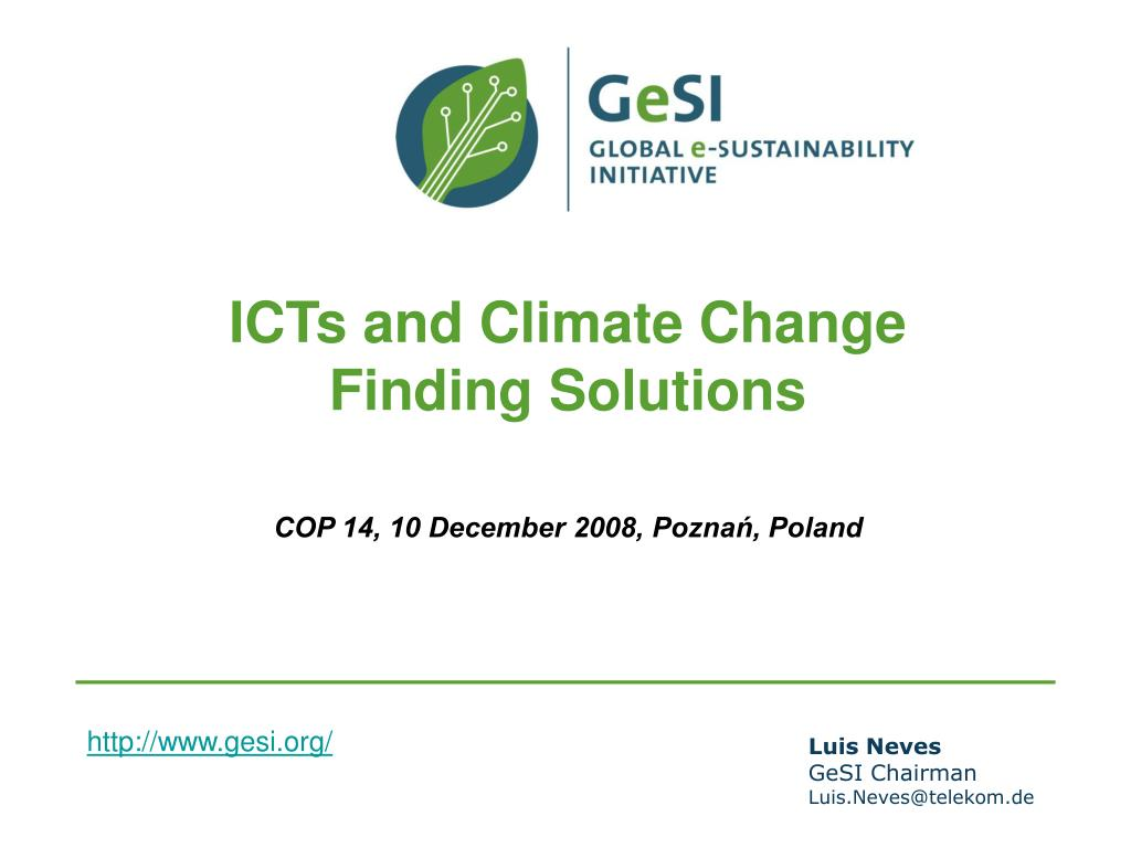 ICTs and Climate Change