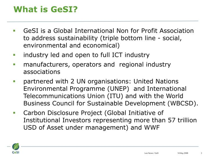 What is GeSI?