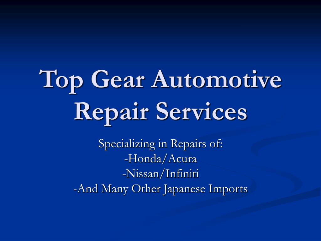 top gear automotive repair services