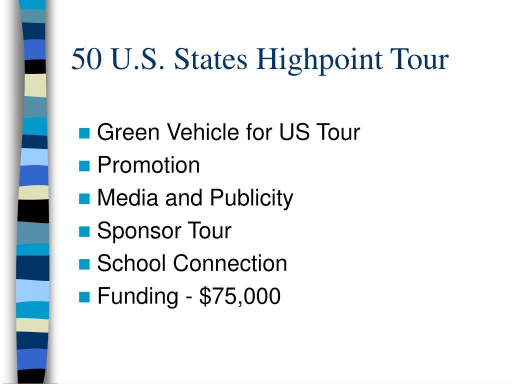 50 U.S. States Highpoint Tour