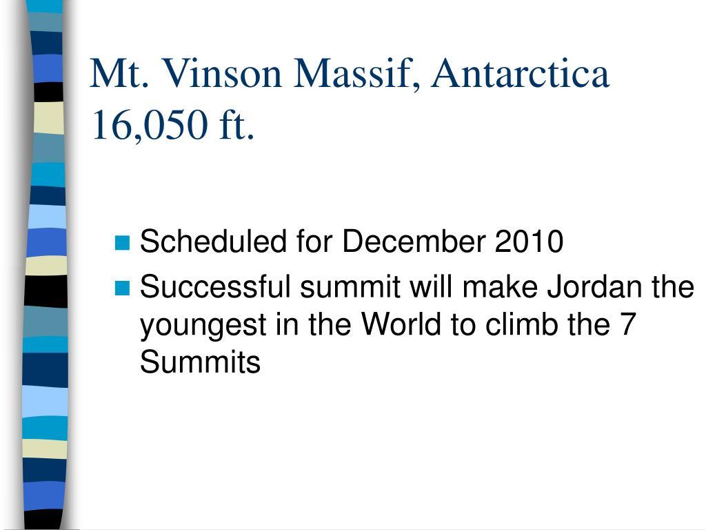 Mt. Vinson Massif, Antarctica