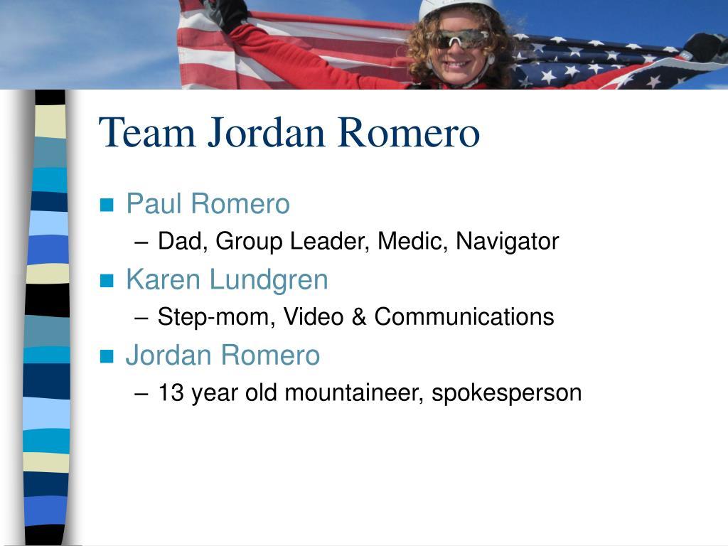 Team Jordan Romero