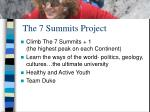 the 7 summits project4
