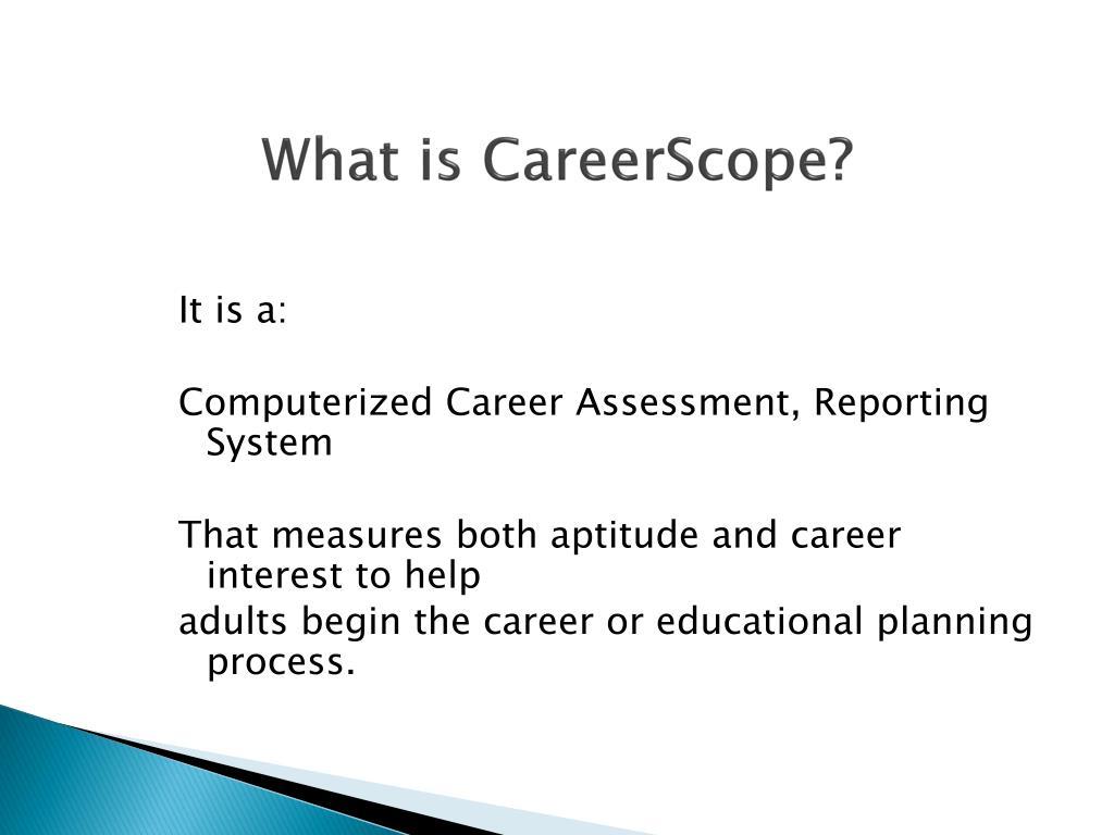 careerscope assessment careerscope