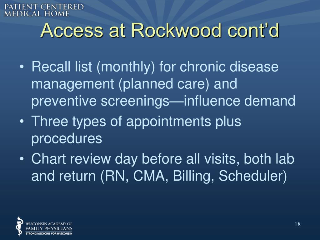 Access at Rockwood cont'd