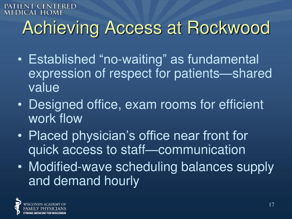 Achieving Access at Rockwood