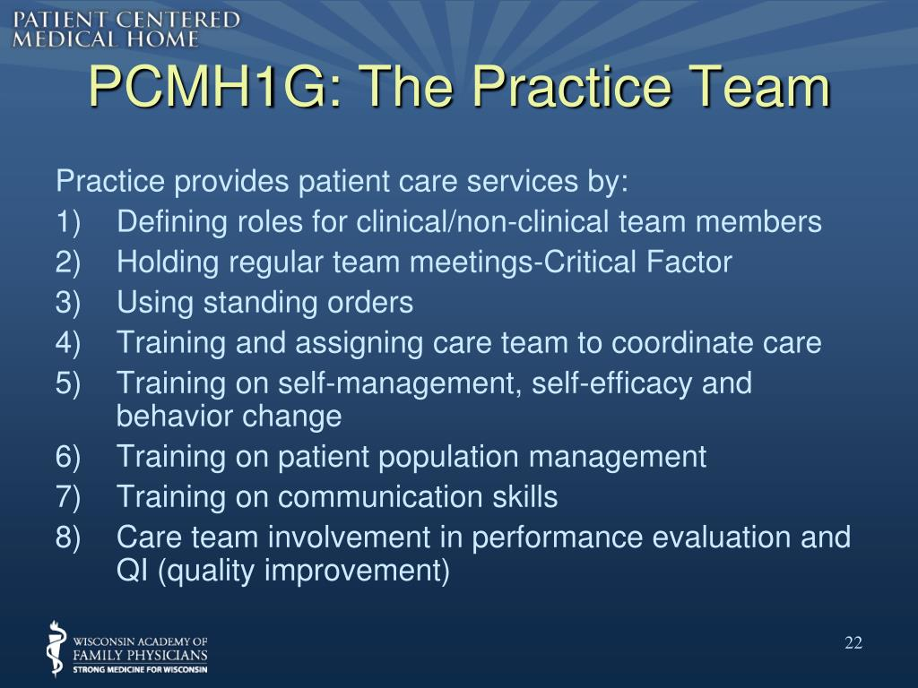 PCMH1G: The Practice Team