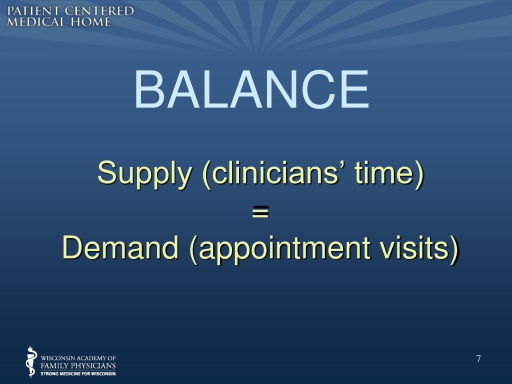Supply (clinicians' time)