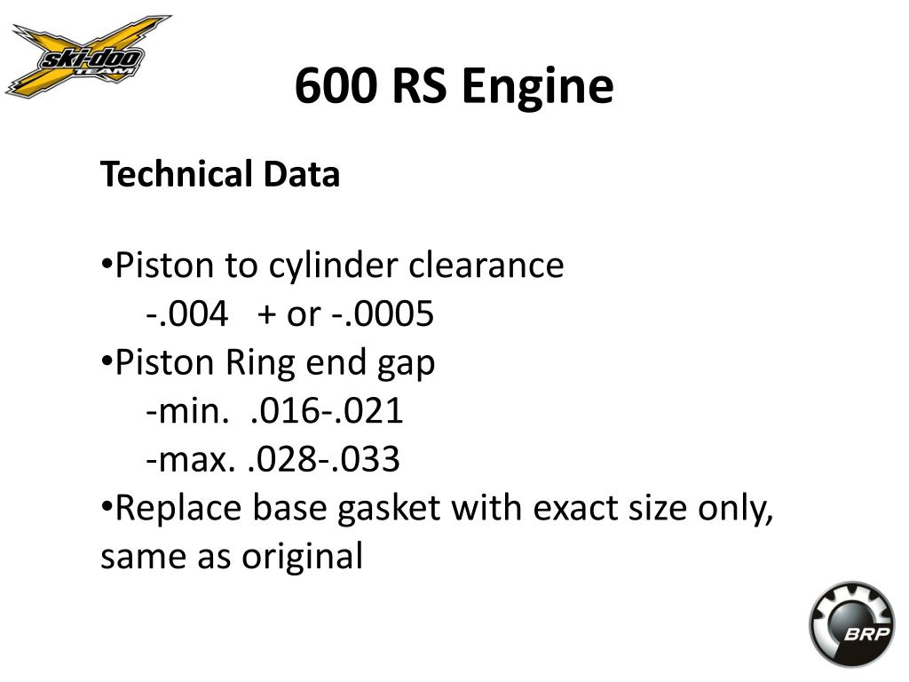 600 RS Engine