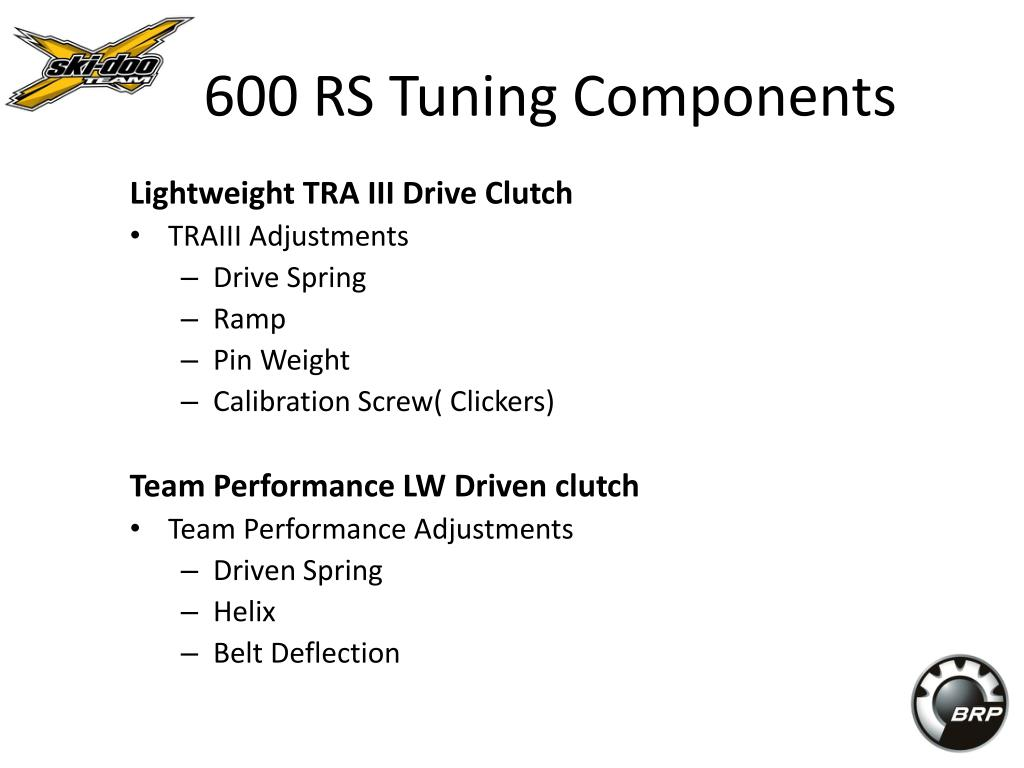 600 RS Tuning Components