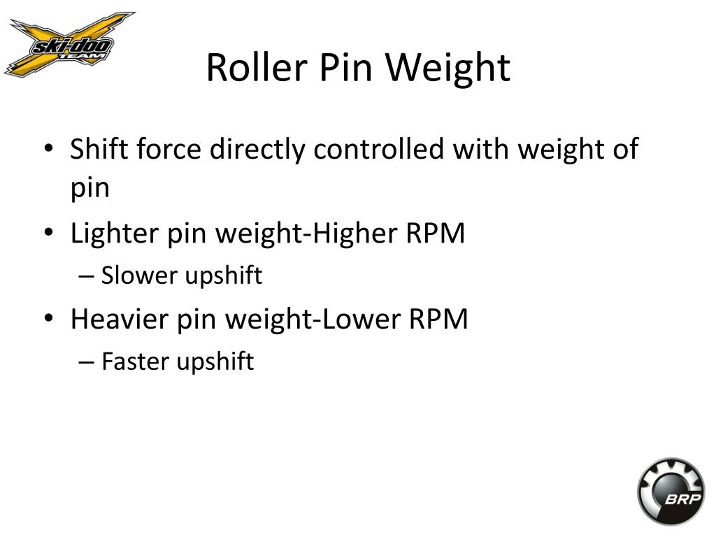 Roller Pin Weight