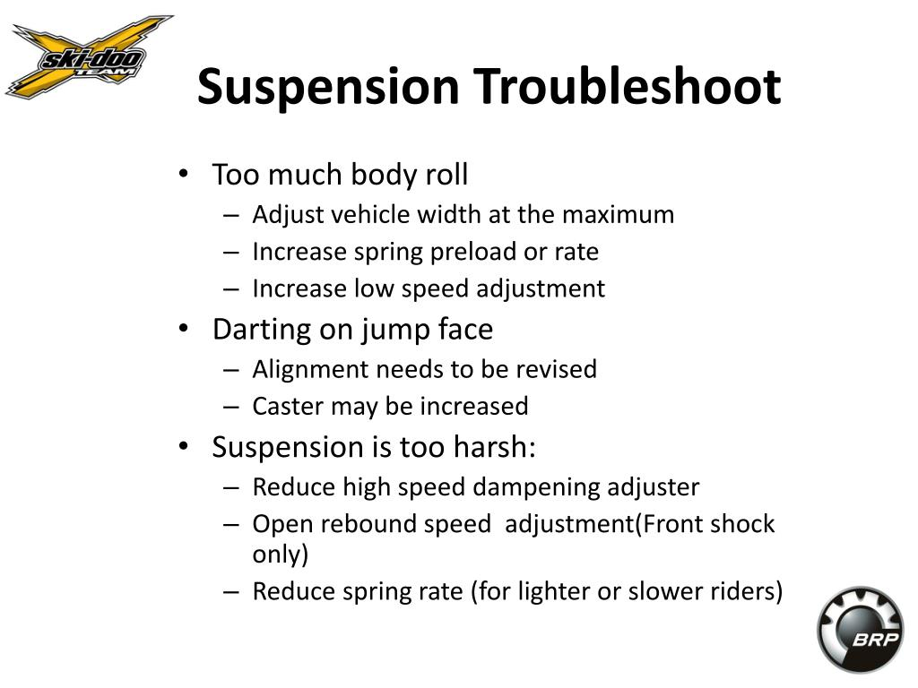 Suspension Troubleshoot