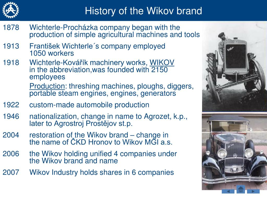 History of the Wikov brand