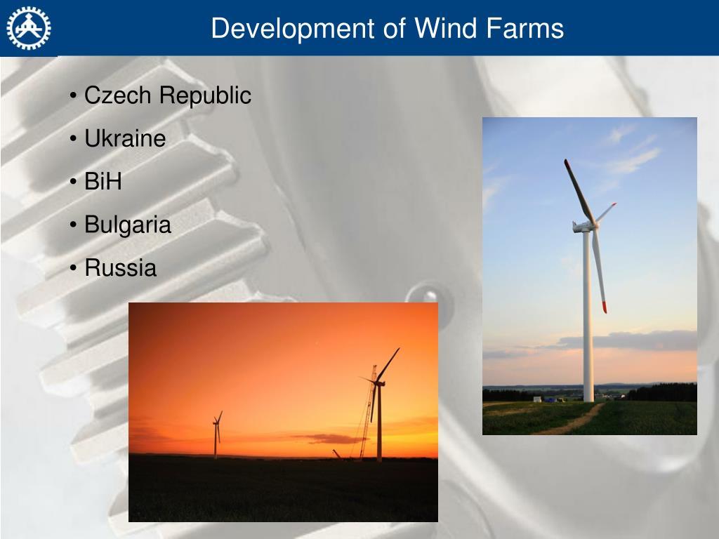 Development of Wind Farms