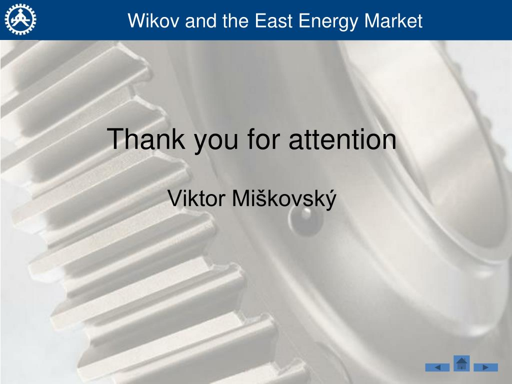Wikov and the East Energy Market