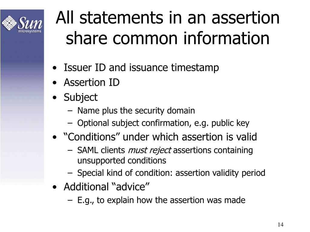 All statements in an assertion share common information