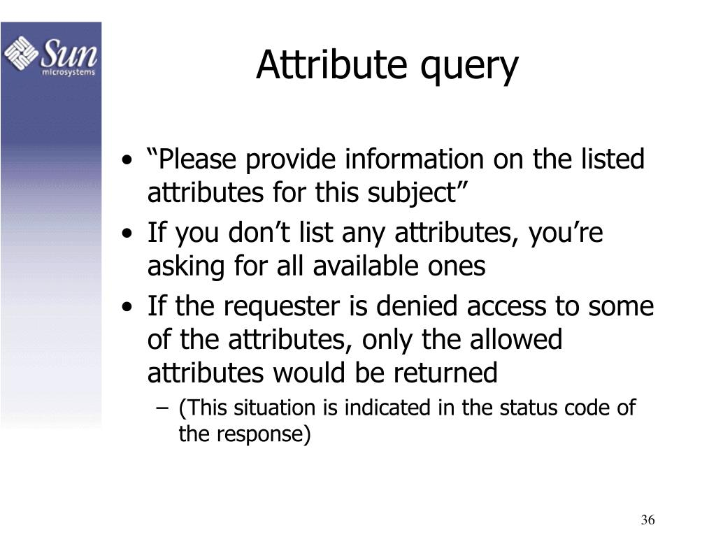 Attribute query