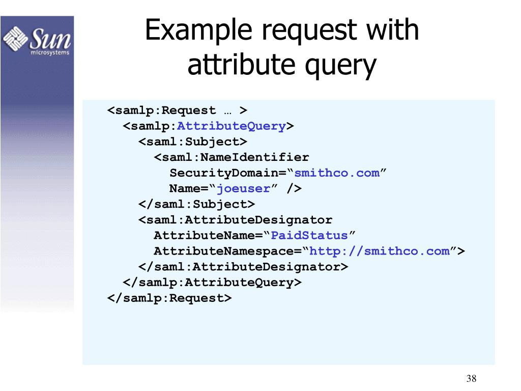 Example request with attribute query