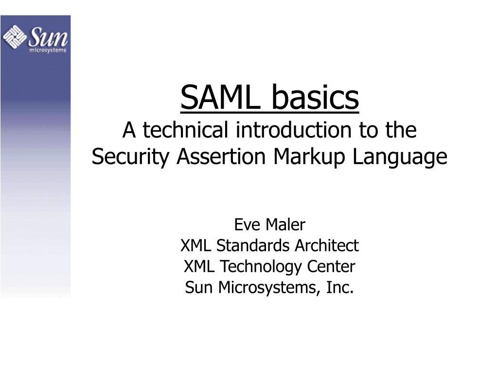 SAML basics