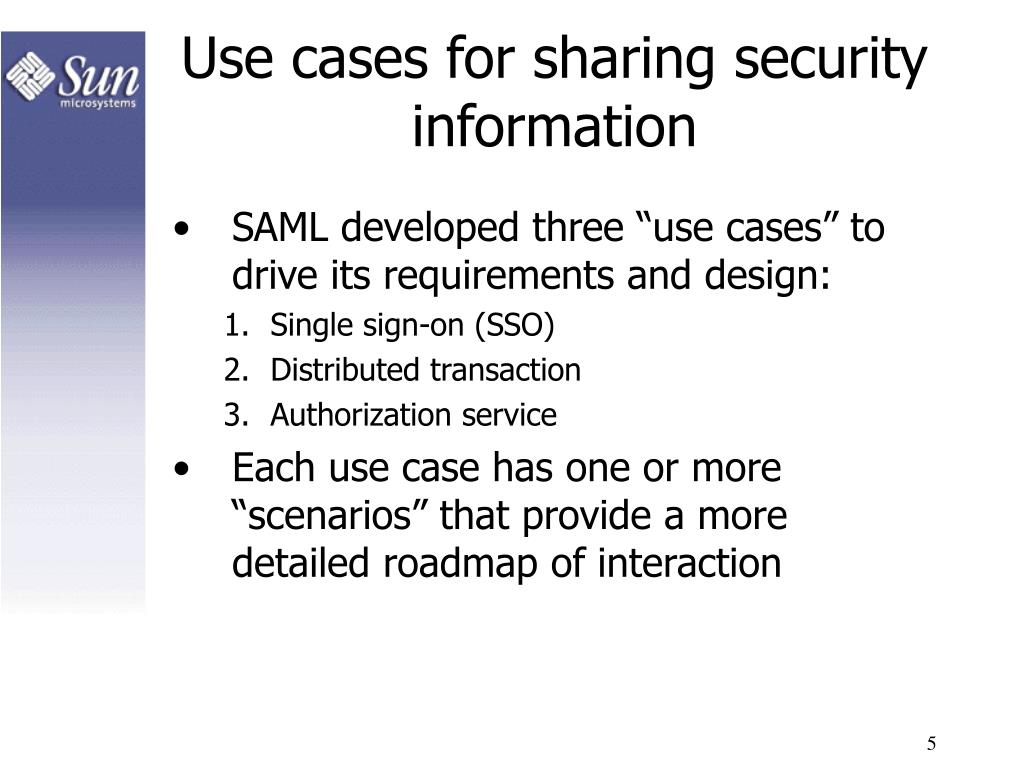 Use cases for sharing security information