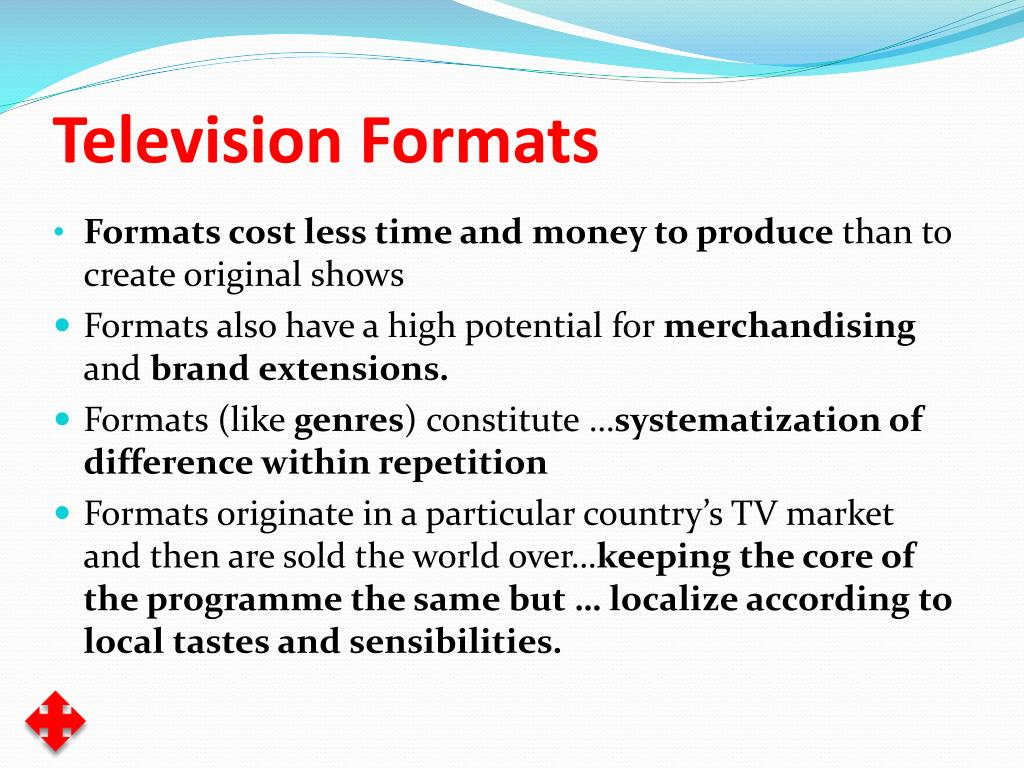 Television Formats