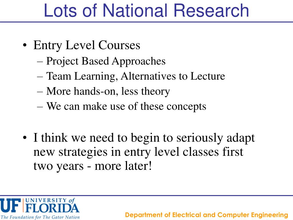 Lots of National Research
