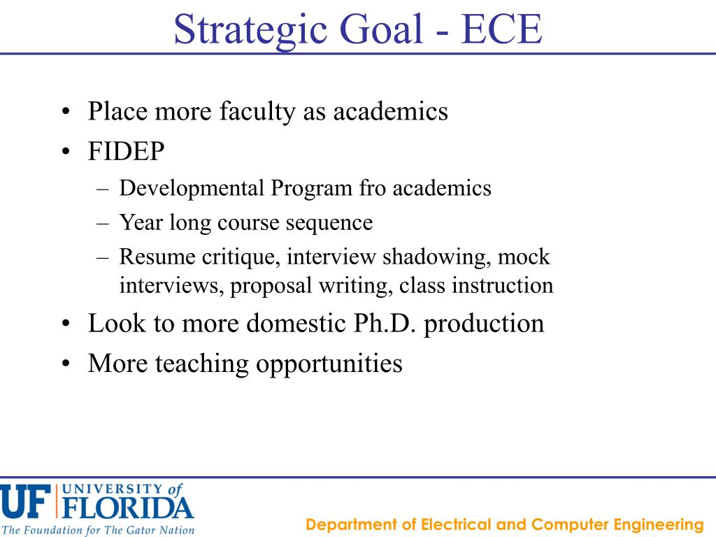 Strategic Goal - ECE