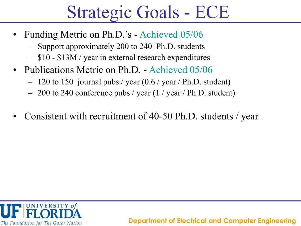 Strategic Goals - ECE