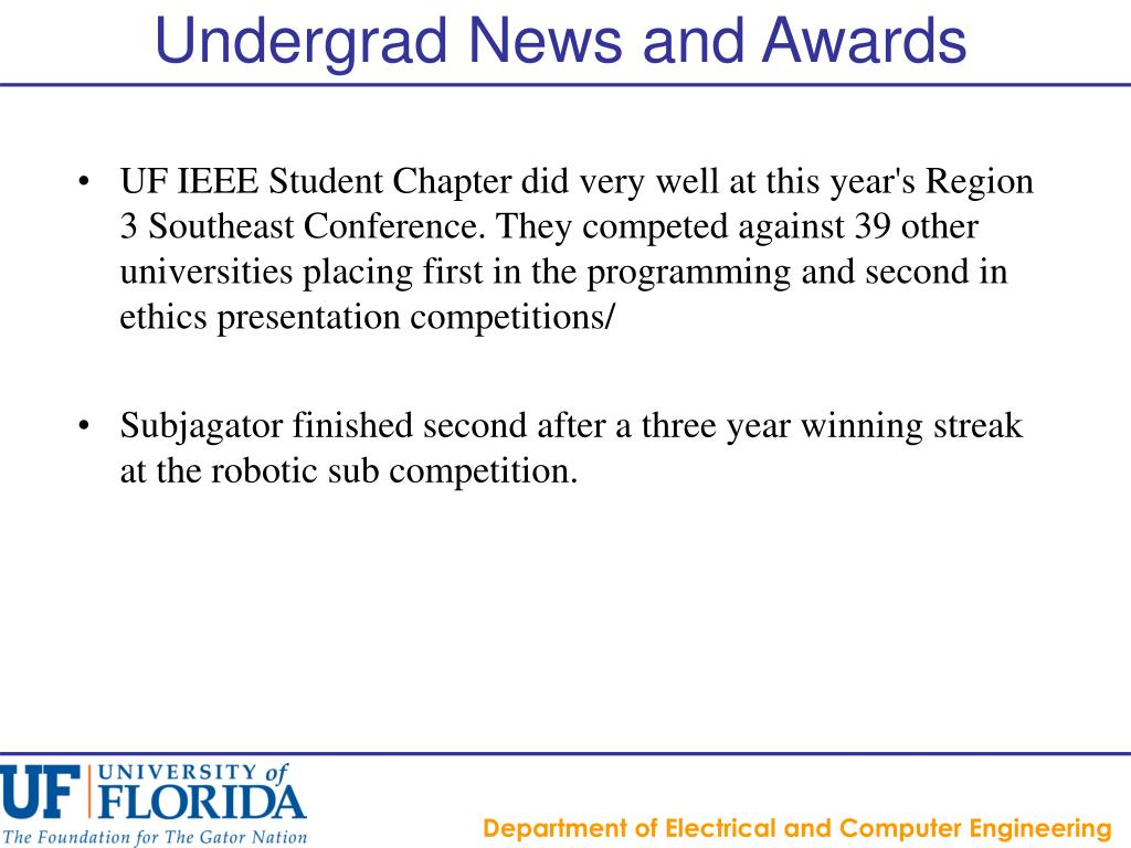 Undergrad News and Awards