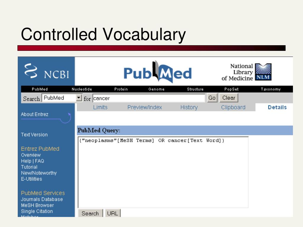 Controlled Vocabulary