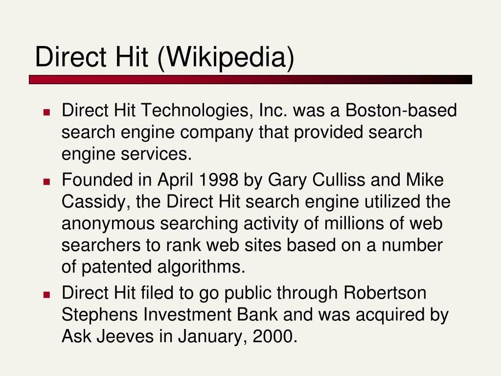 Direct Hit (Wikipedia)