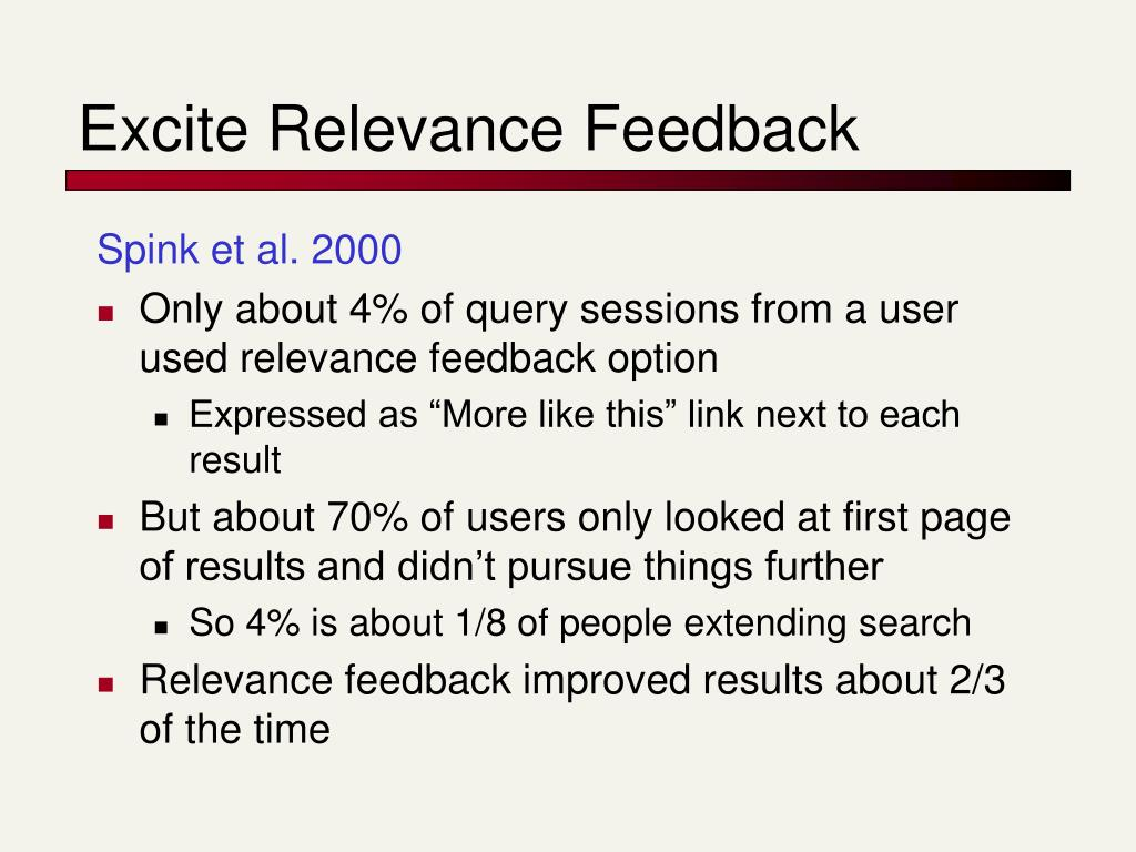Excite Relevance Feedback