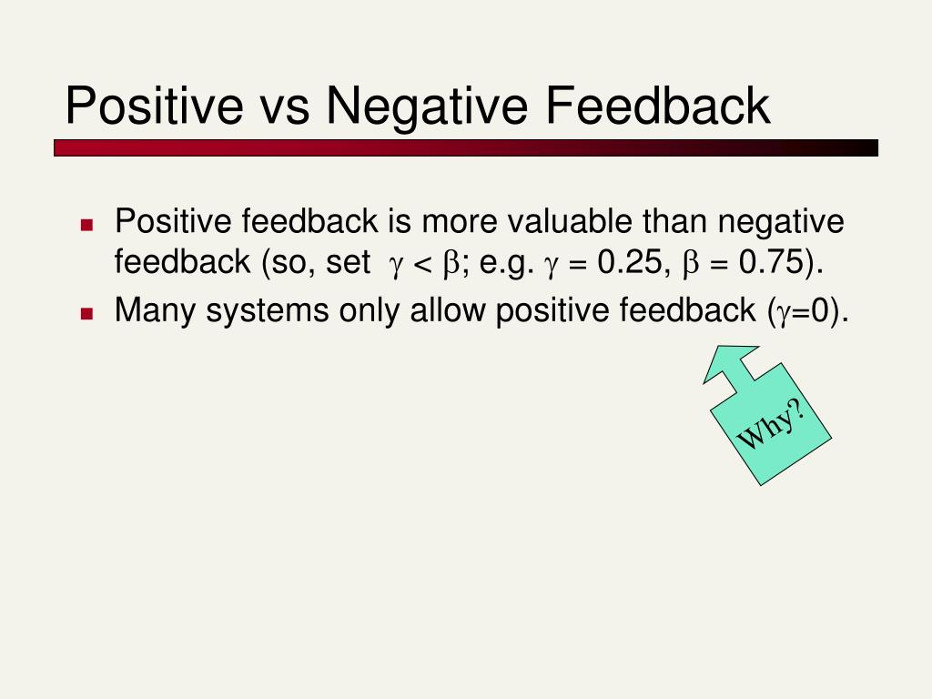 Positive vs Negative Feedback