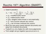 rocchio 1971 algorithm smart