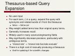 thesaurus based query expansion