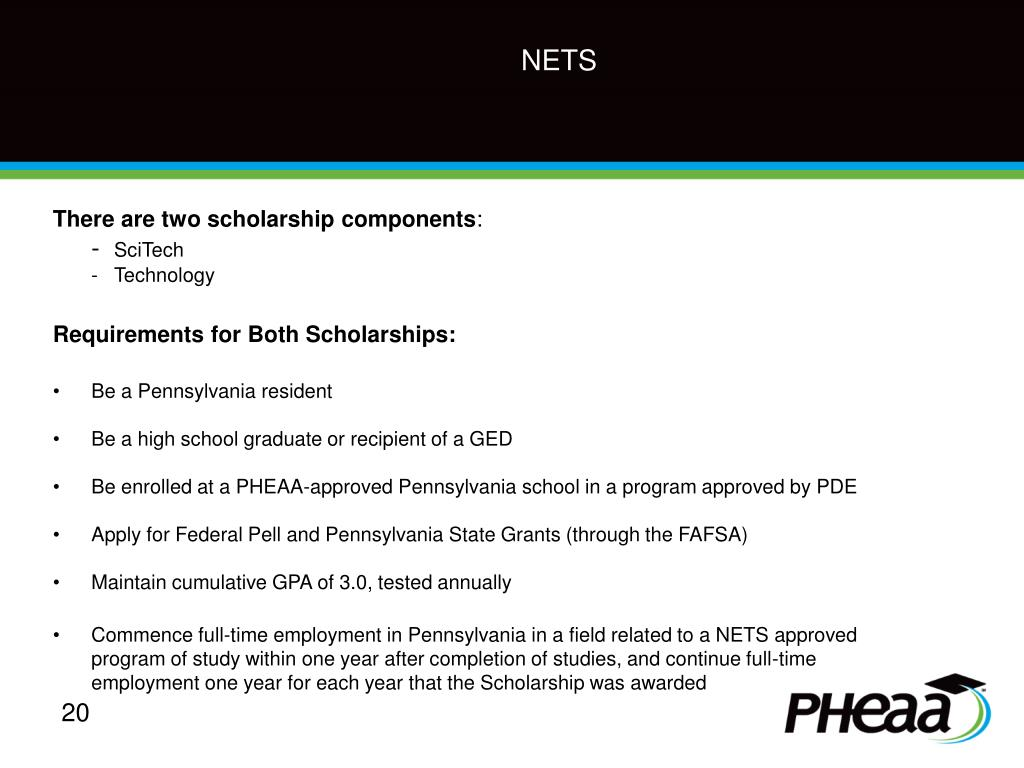 There are two scholarship components