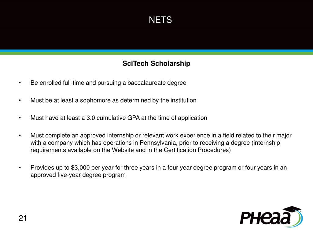 SciTech Scholarship
